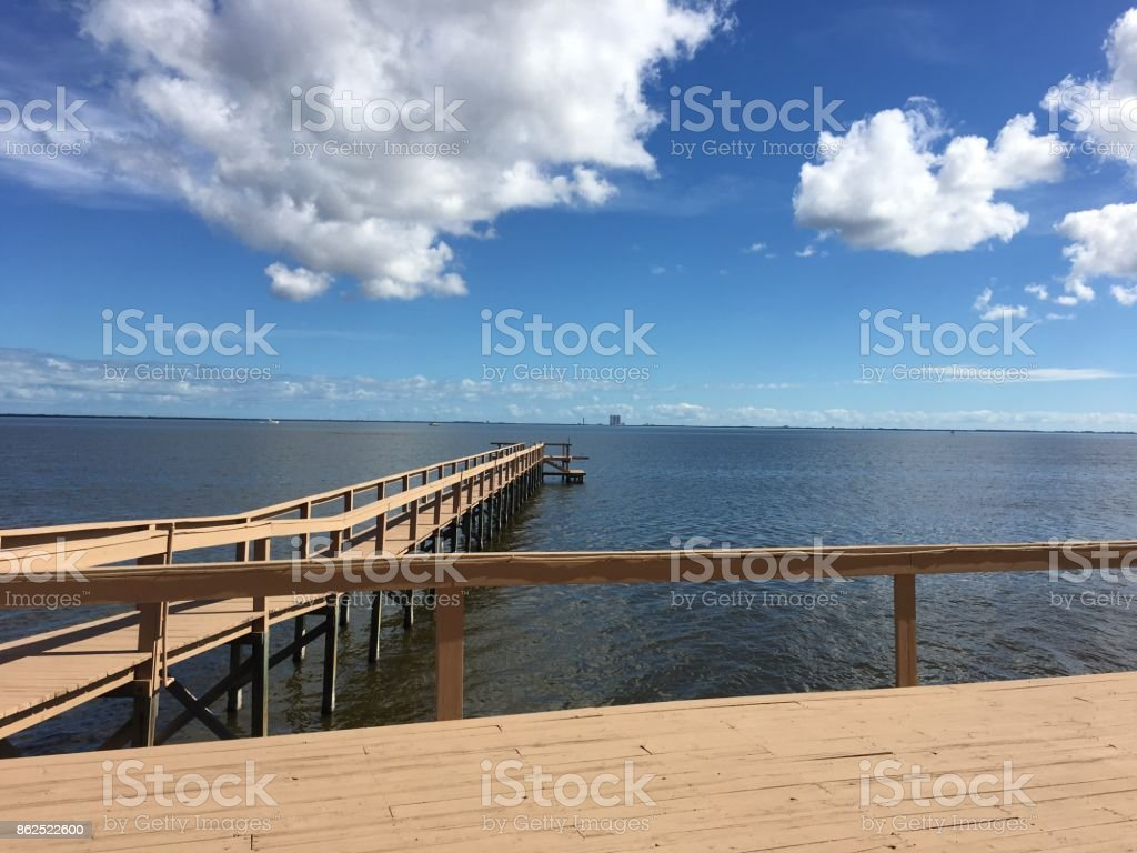 View of Indian River in Titusville, Florida, USA stock photo