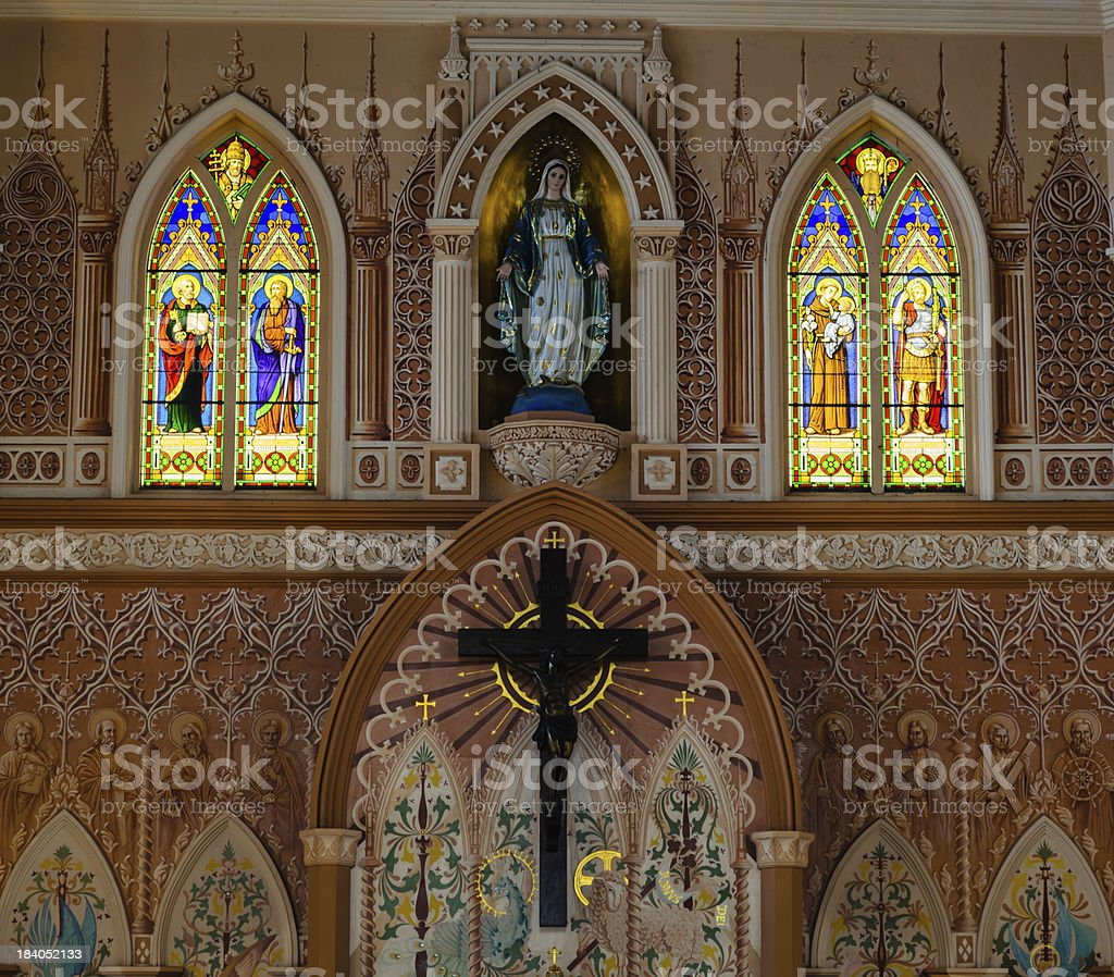 View of Interior Church stock photo