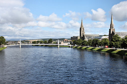 A view of Inverness and the river Ness