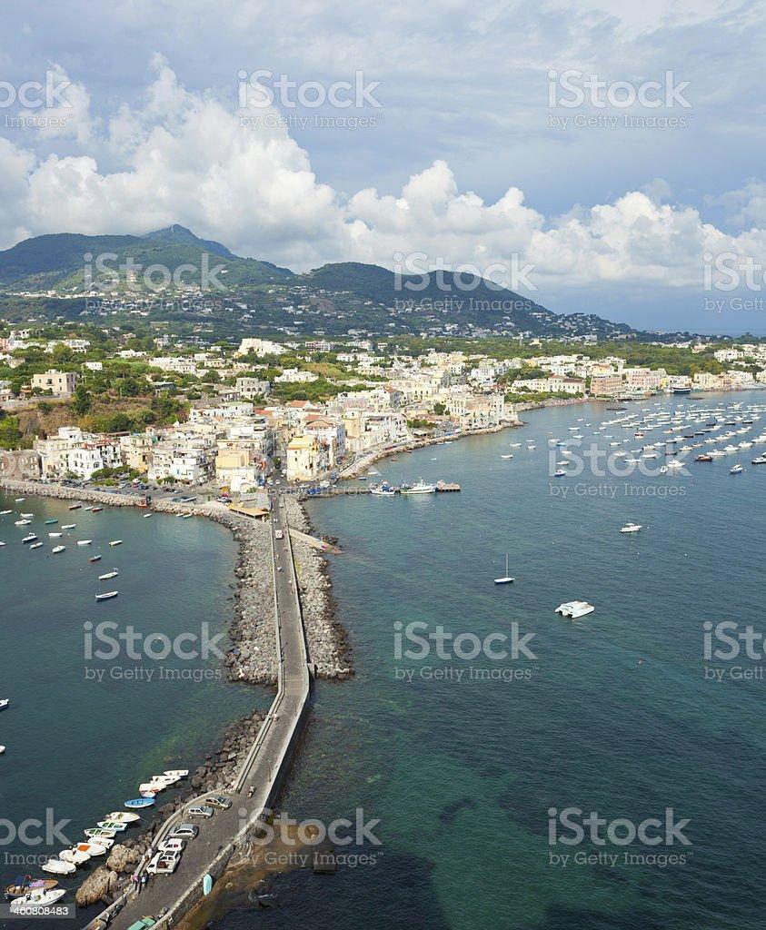 View of Ischia Ponte stock photo