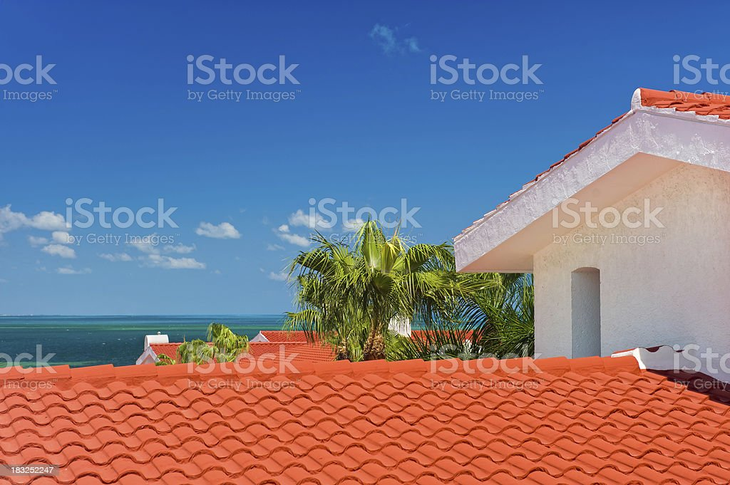 View of Isla Mujares and Tropical Clear Water stock photo