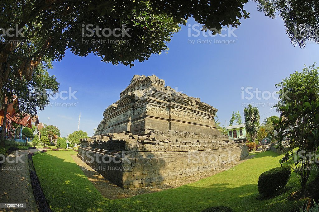View of Jago Temple beside garden royalty-free stock photo
