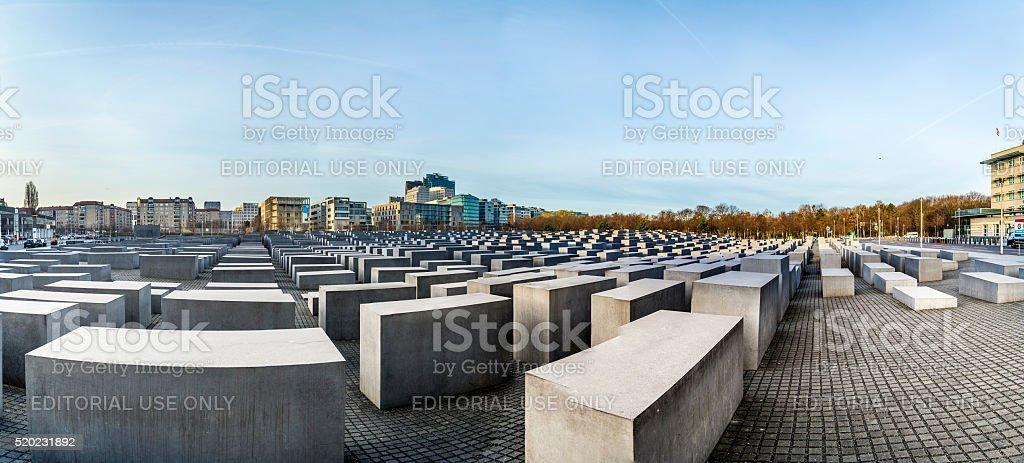 View of Jewish Holocaust Memorial stock photo
