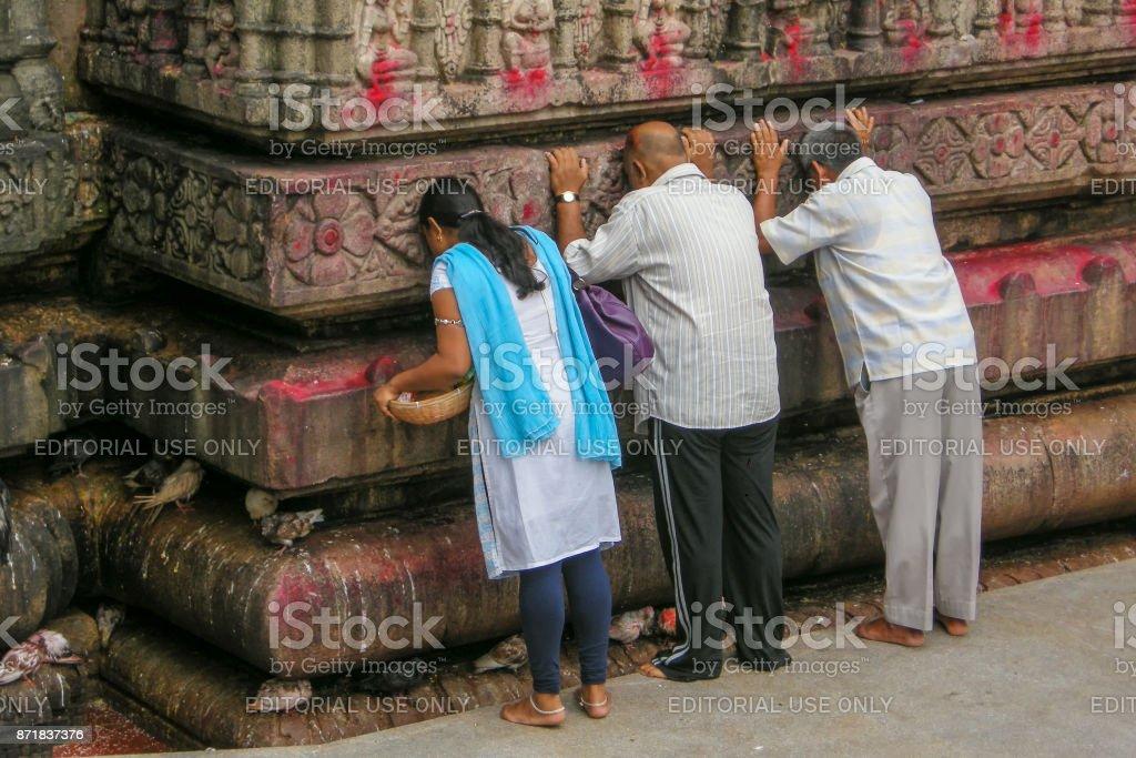 View of Kamakhya Temple, Guwahati, Assam. stock photo