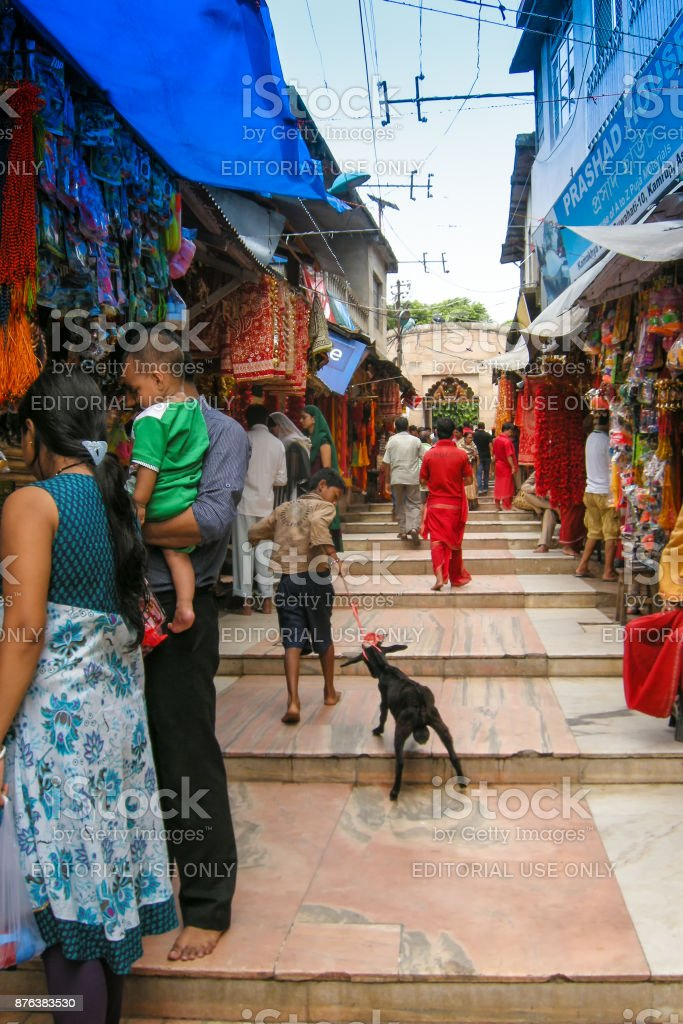 View of Kamakhya Temple, Guwahati, Assam. stock photo