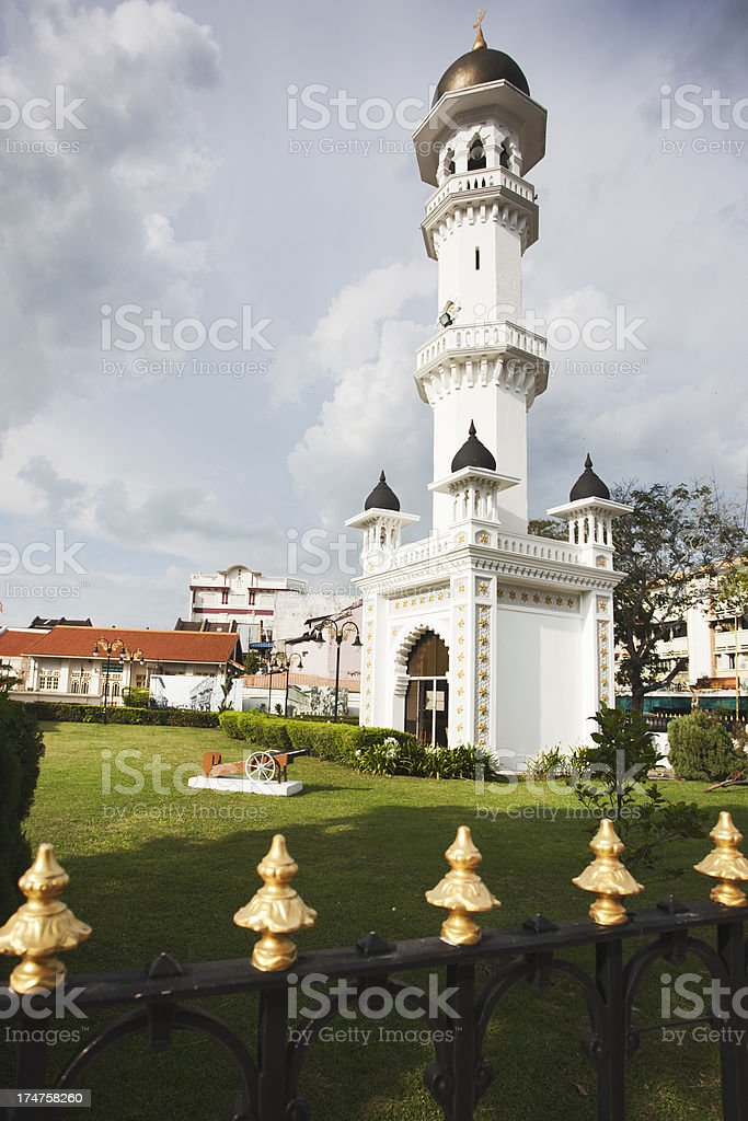 View of Kapitan keling minaret in Georgetwon. royalty-free stock photo