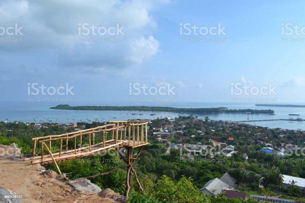 Blick auf Karimun Jawa im Norden der Insel Java. Es ist ein geheimes tropischen Paradies im Vergleich zu Bali - Lizenzfrei Blau Stock-Foto