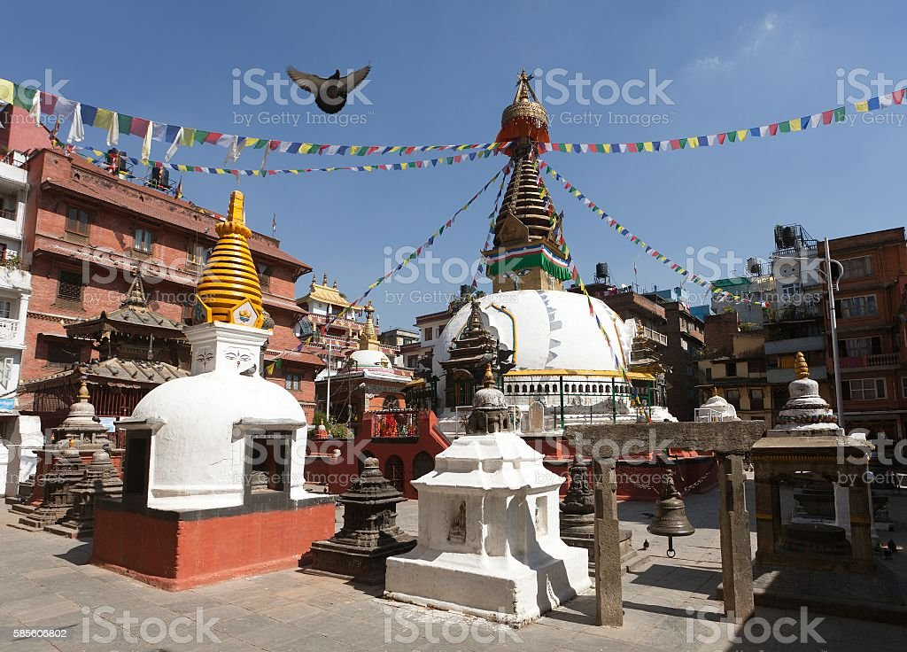 View of Kathesimbhu stupa - Kathmandu stock photo