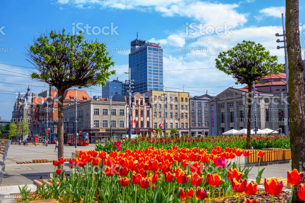 View of Katowice city center royalty-free stock photo