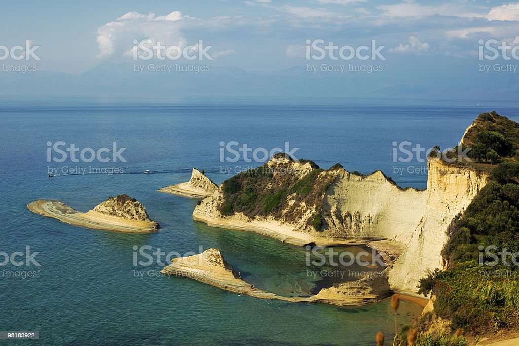 view of Kerkira island royalty-free stock photo