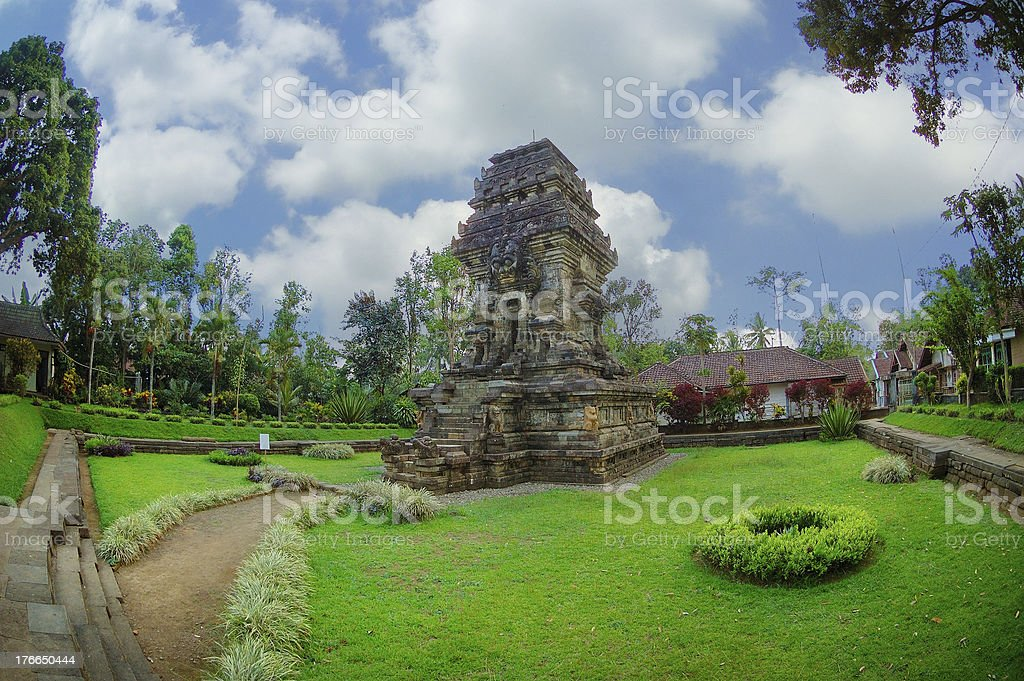 View of Kidal Temple beside garden royalty-free stock photo