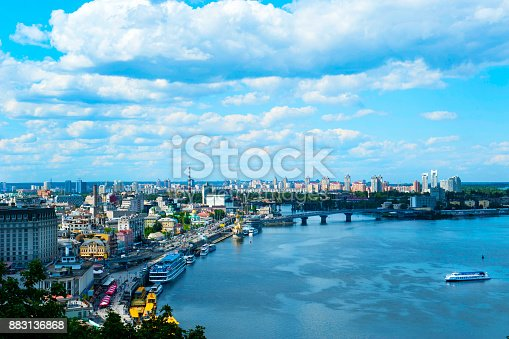 istock View of Kiev from observation point over the Dnieper in Ukraine 883136868