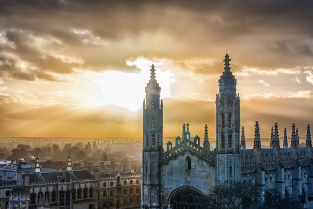 view of king's college, cambridge university, cambridge - cambridge university stock photos and pictures