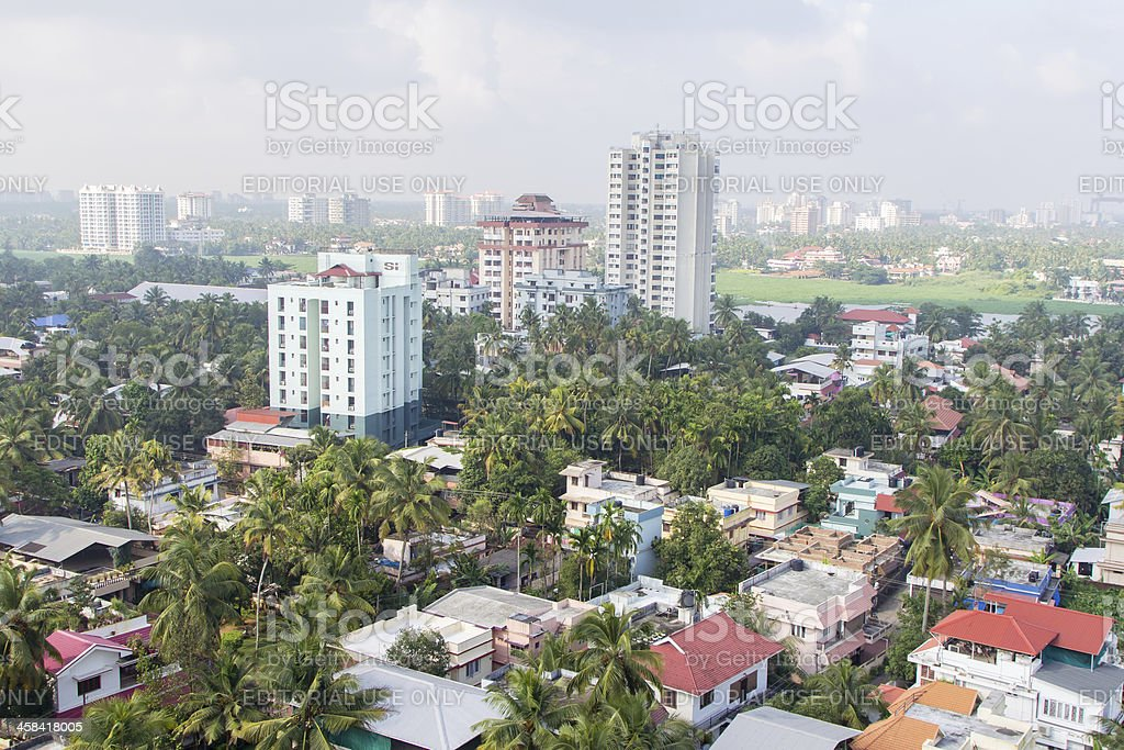 View of Kochi city, India stock photo