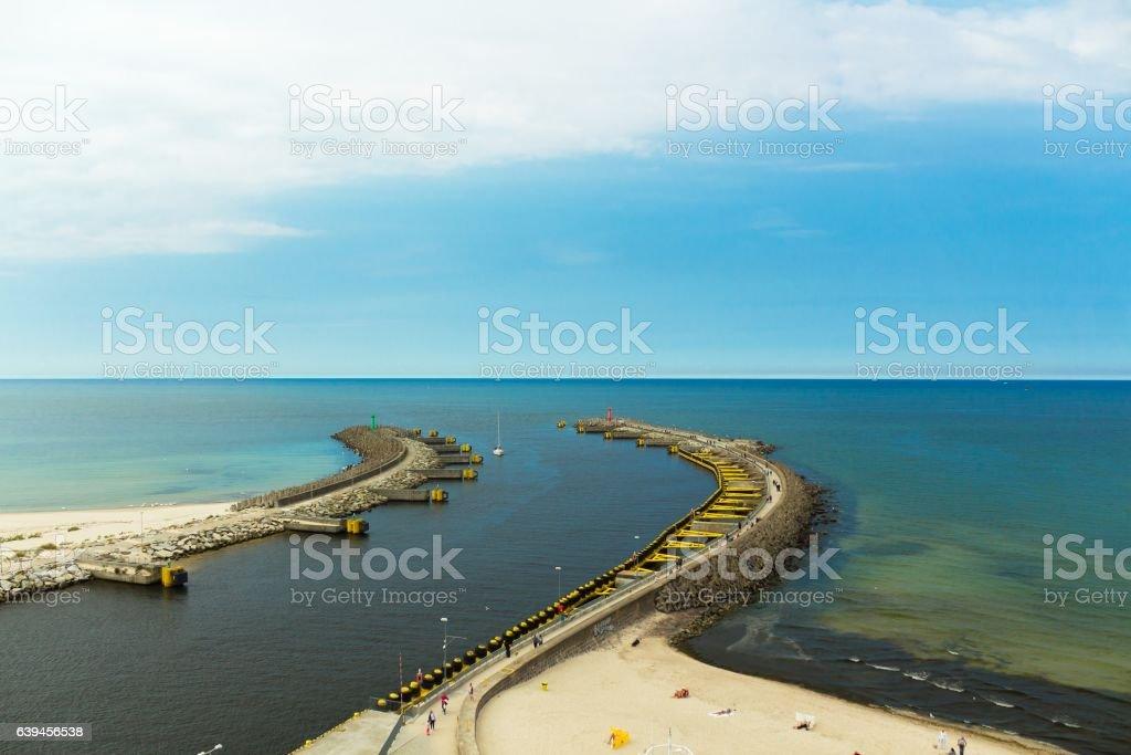 View of Kolobrzeg port entrance, Poland – zdjęcie
