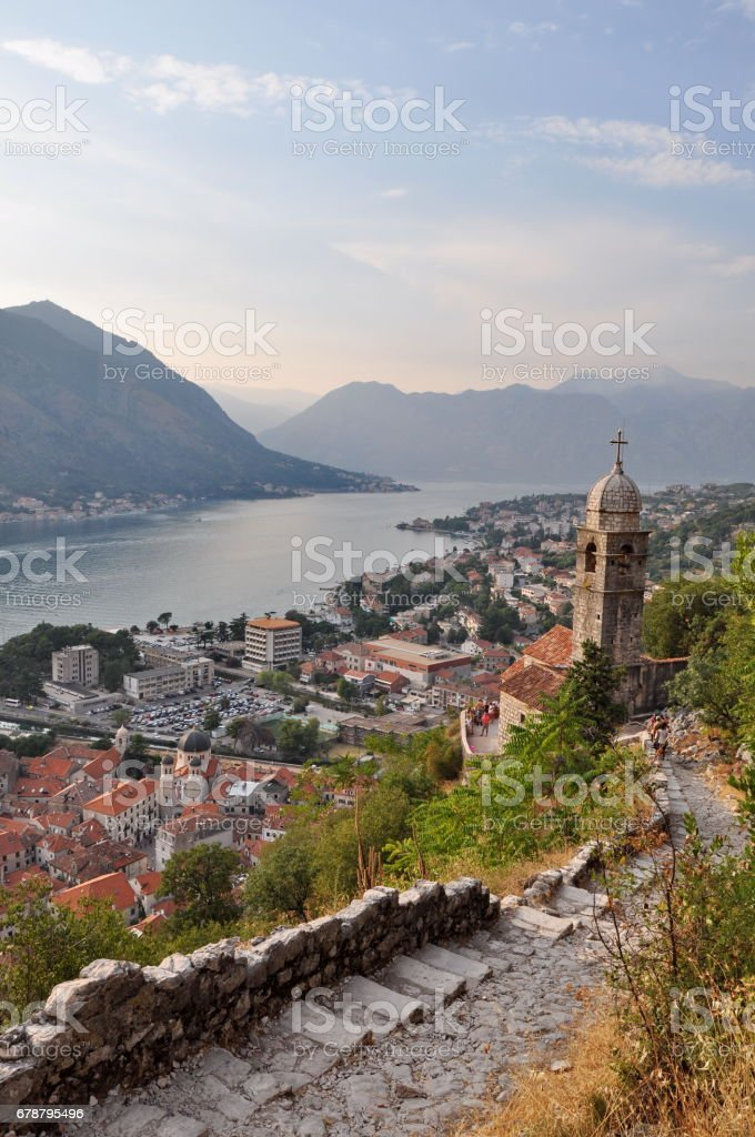 View of Kotor Bay in Monte Negro royalty-free stock photo