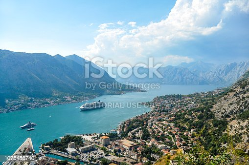 istock View of Kotor city from the mountain 1075458740