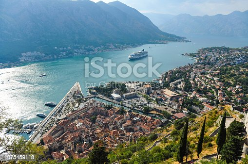 istock View of Kotor city from the mountain 1075459118