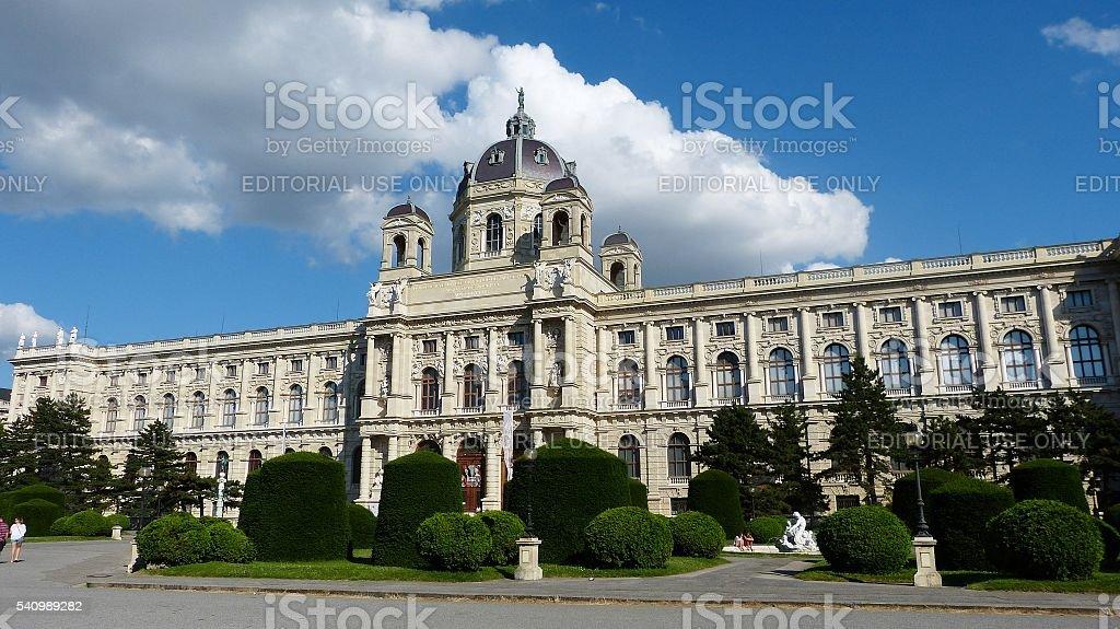 View of Kunsthistorisches Museum in Vienna, Austria. stock photo