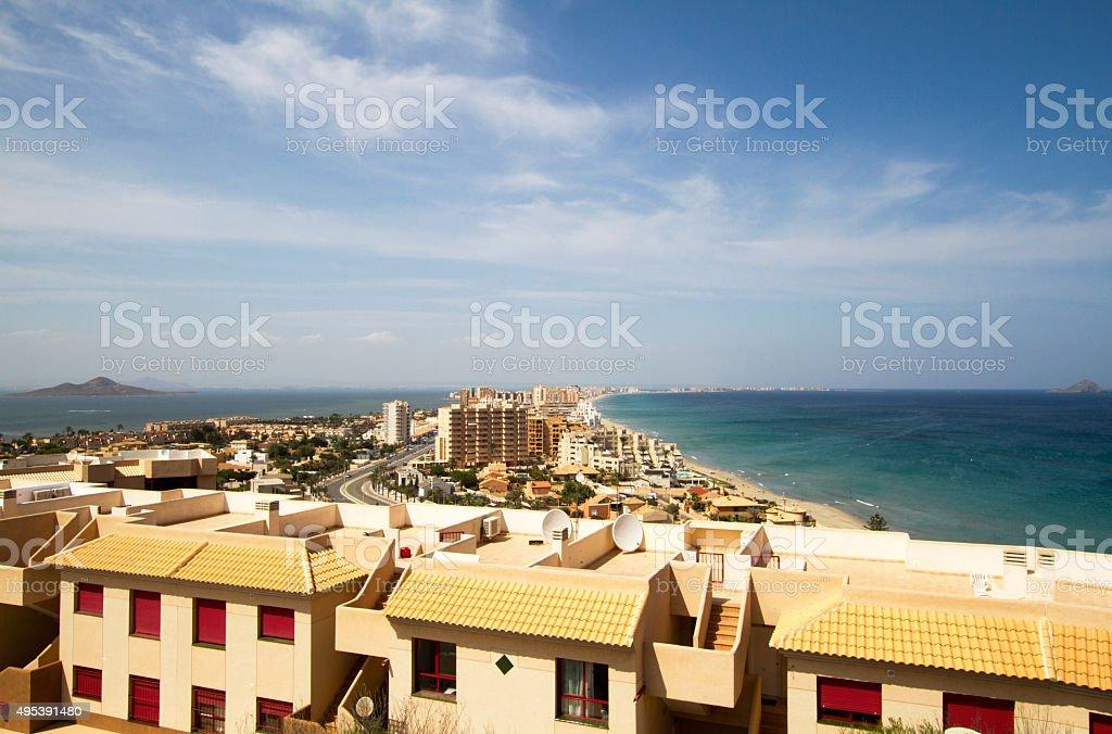 View of la Manga del Mar Menor stock photo