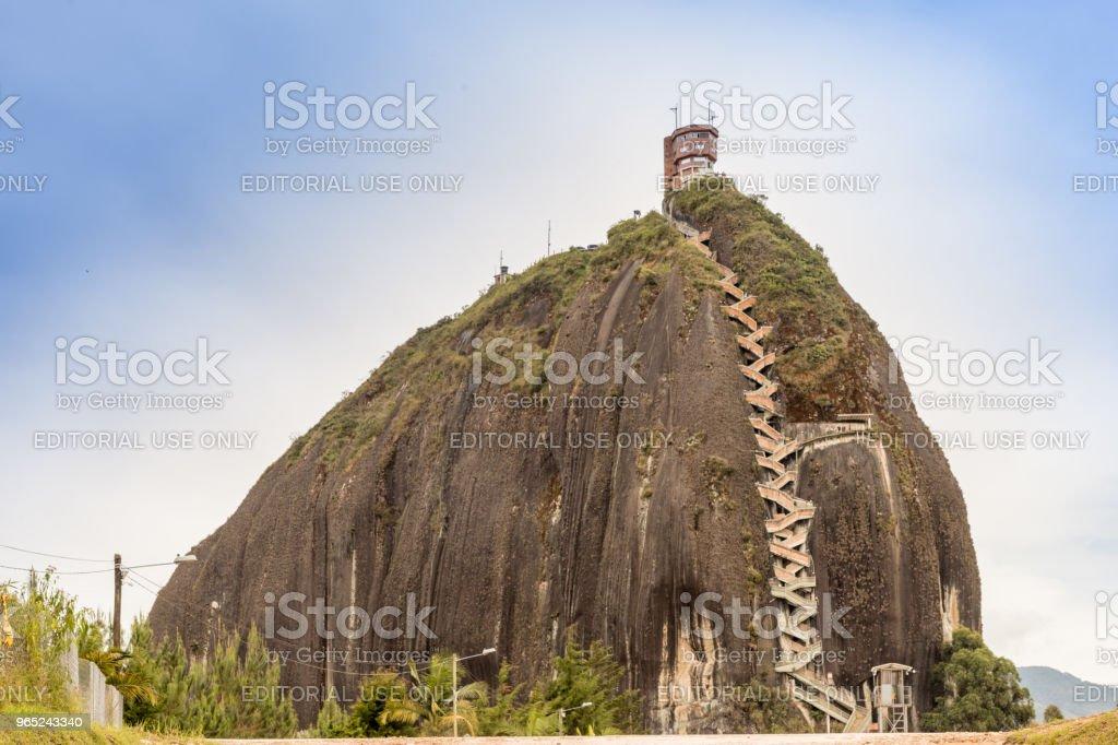 A view of La piedra, Guatape zbiór zdjęć royalty-free