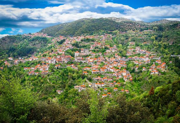 View of Lagadia village located in Peloponnese,Arcadia,Greece stock photo