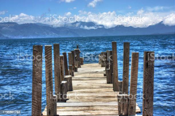 View of Lake Atitlan Guatemala