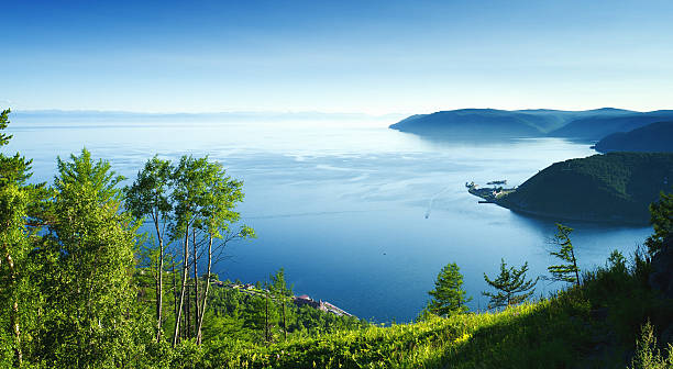 View of Lake Baikal stock photo