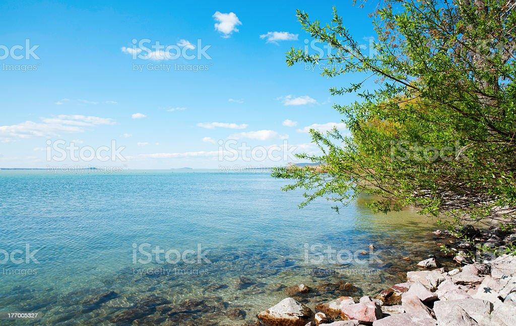 View of Lake Balaton, Hungary royalty-free stock photo