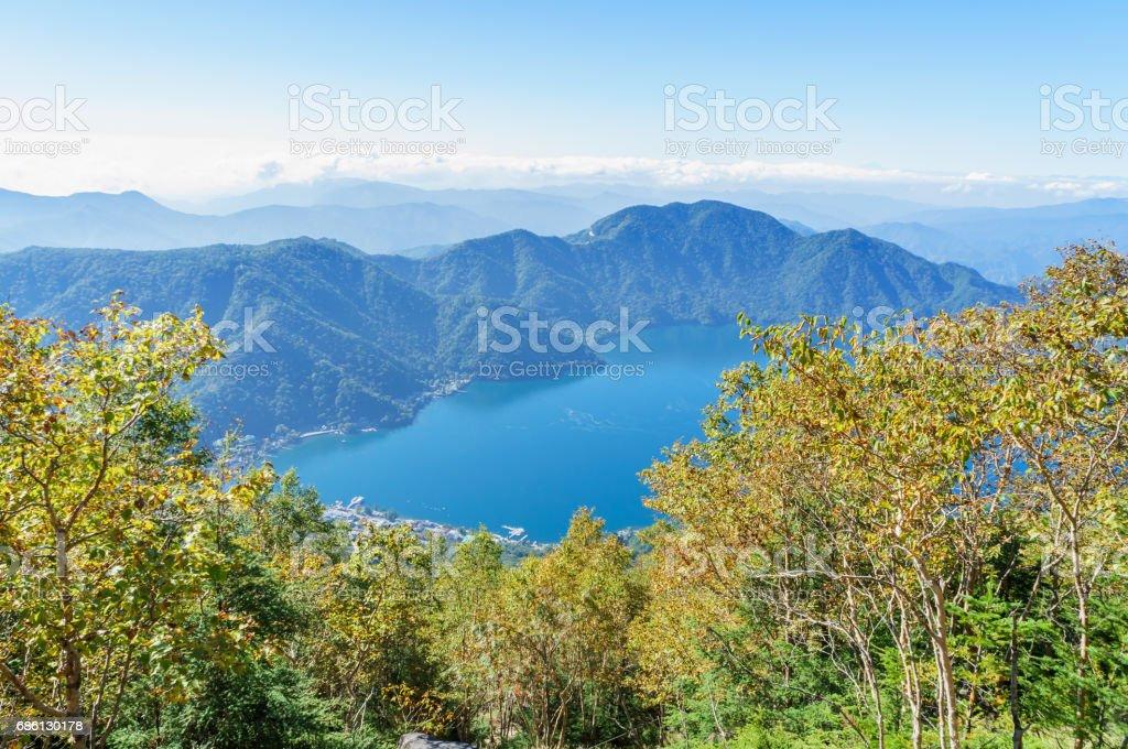 View of Lake Chuzenji stock photo