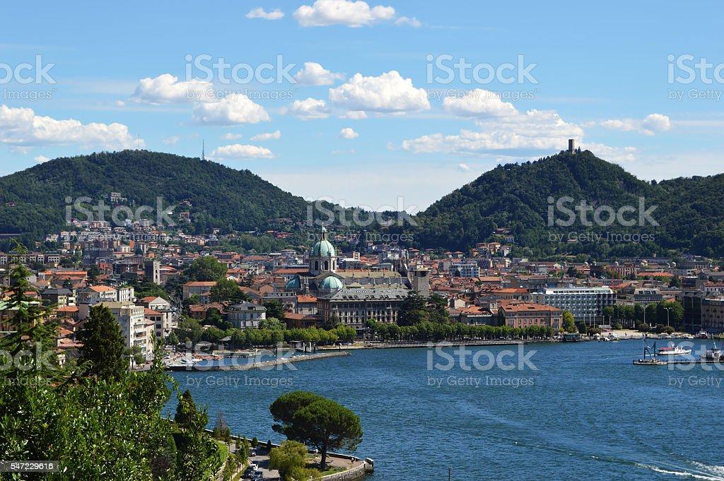 view of Lake Como, Italy, Europe stock photo