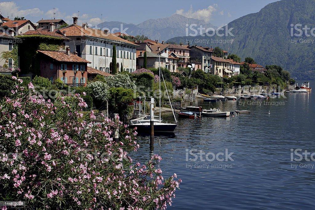 View of Lake Como village, Italy royalty-free stock photo