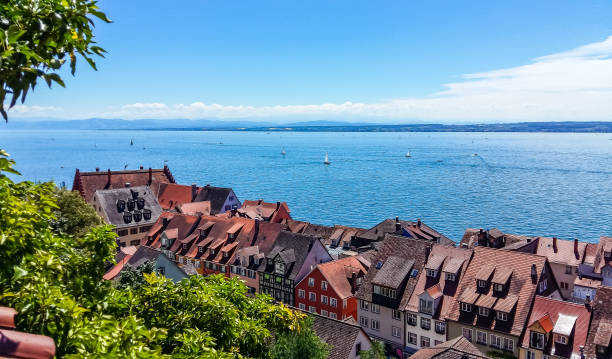 View of Lake Constance from Meersburg View of Lake Constance from Meersburg Bodensee stock pictures, royalty-free photos & images
