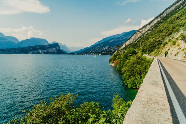 View of Lake Garda, Italy stock photo