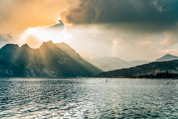View of Lake Garda, Italy stock photo