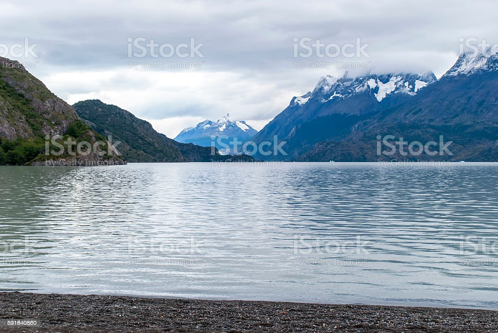 View of Lake Grey. stock photo