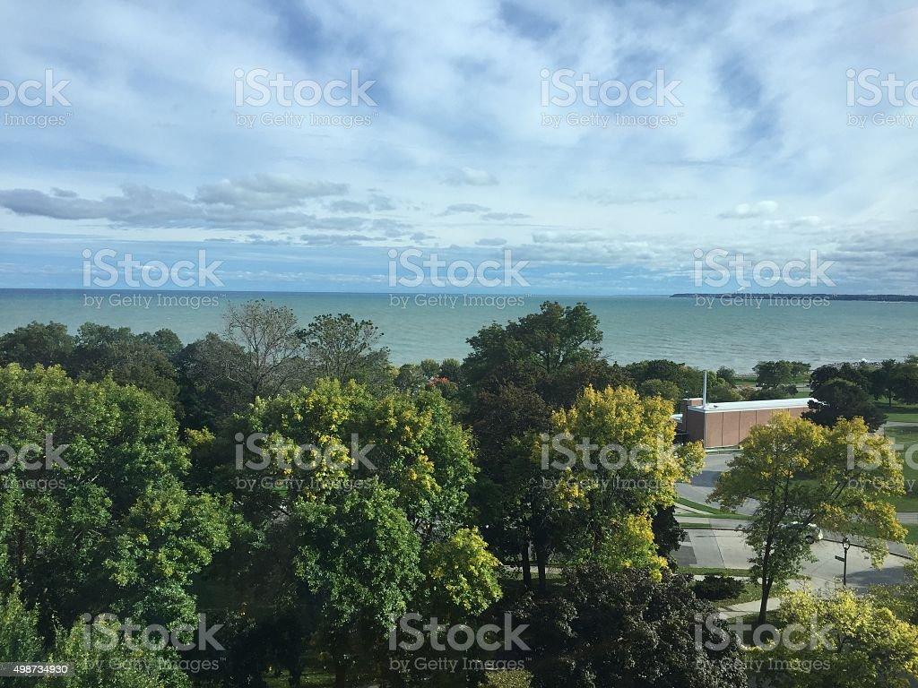 View of Lake Michigan stock photo