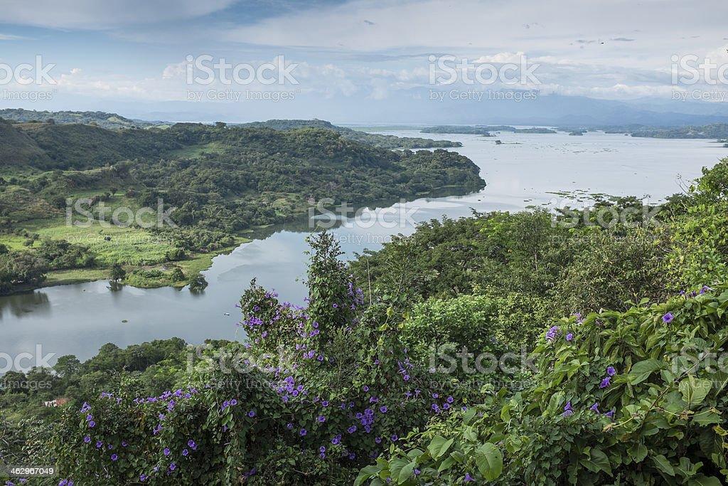 View of Lake Suchitlan, El Salvador royalty-free stock photo