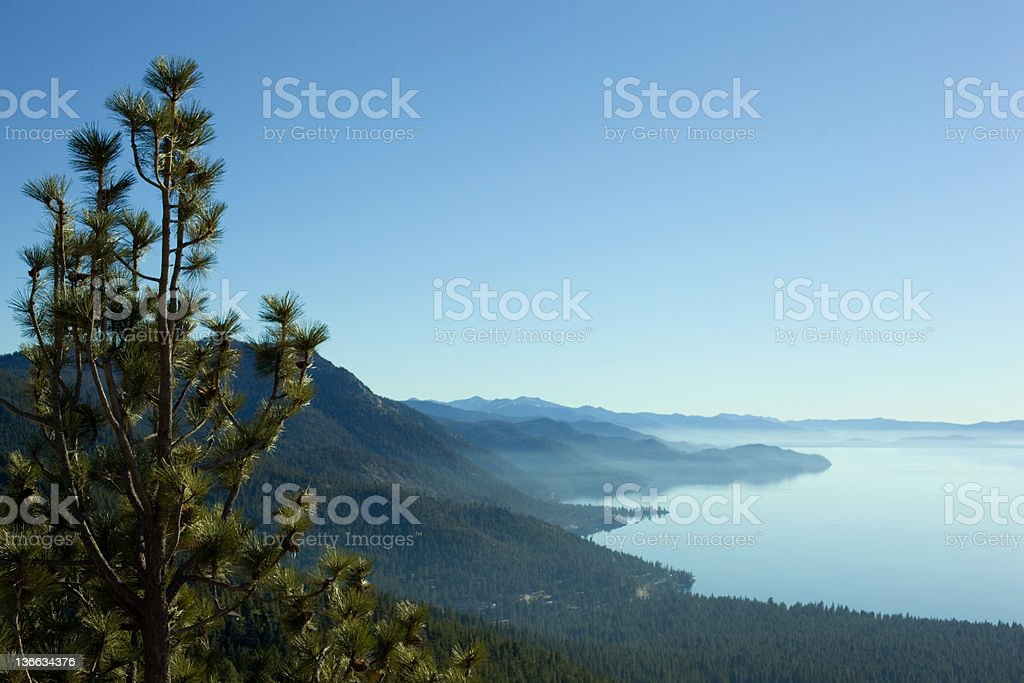 View of Lake Tahoe from North Shore above Incline Village stock photo