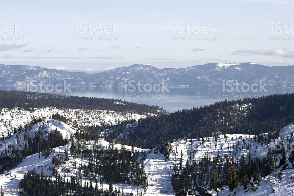 View of Lake Tahoe from Squaw Valley stock photo