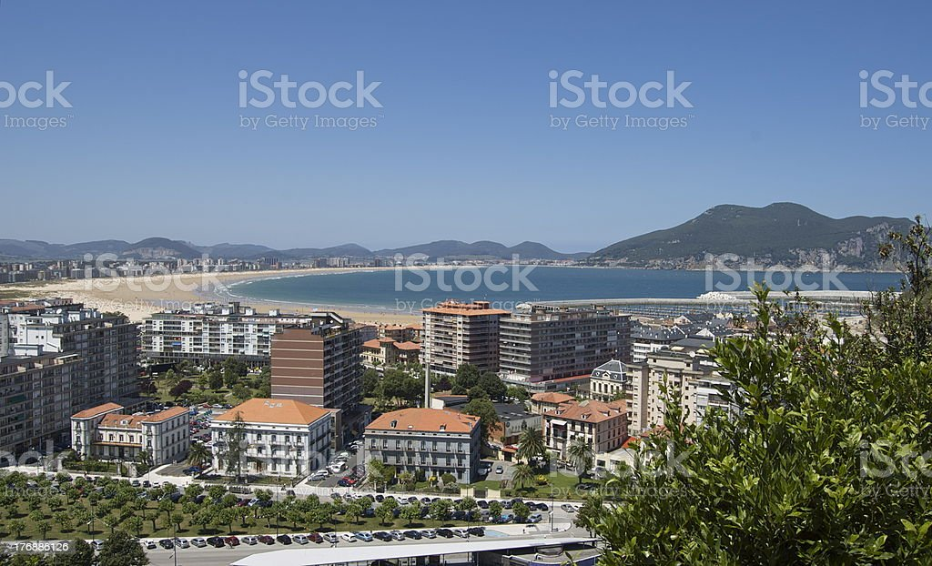 View of Laredo, Cantabria coast stock photo
