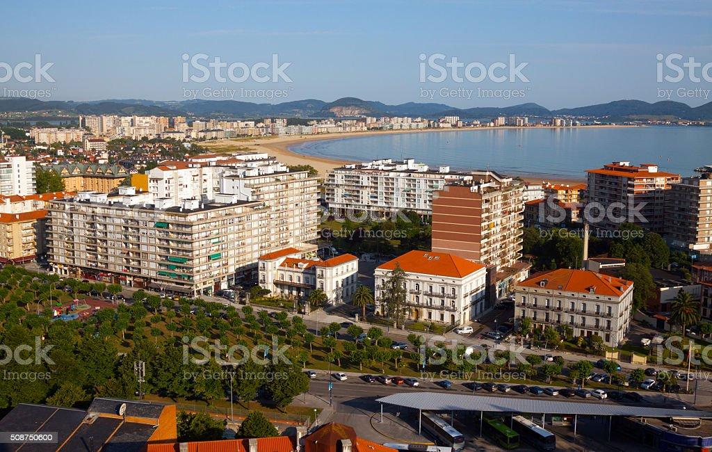 view of Laredo center. Cantabria stock photo