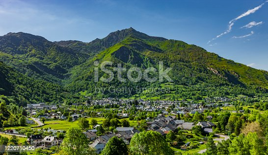 istock View of Laruns in the French Pyrenees 1220710450