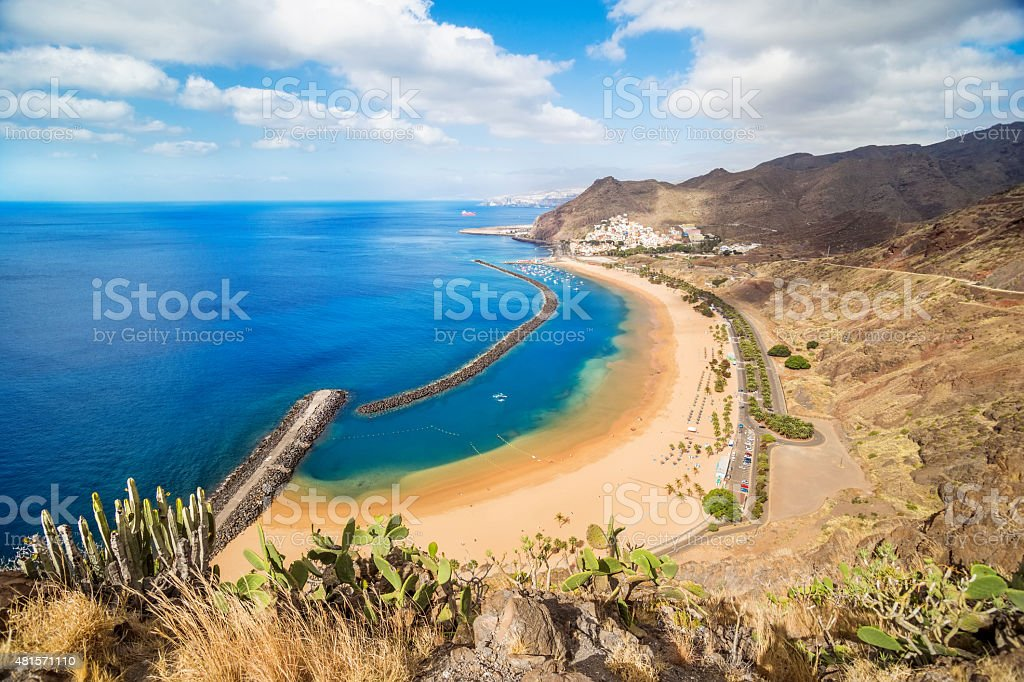 View of Las Teresitas Beach, Tenerife, Spain stock photo