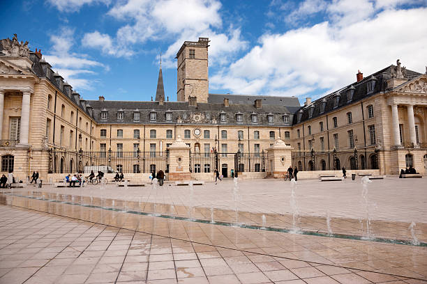 View of Libération square in Dijon, France stock photo