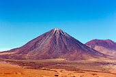 View of Licancabur stratovolcano at the border of Chile and Bolivia