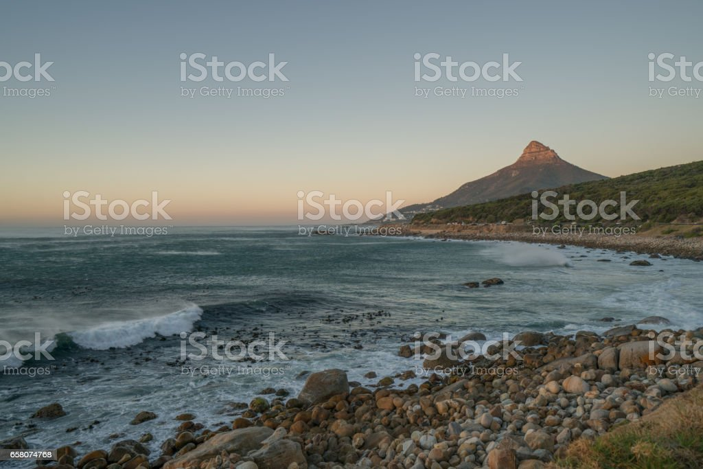 View of Lion's head and coastline, Cape Town royalty-free stock photo