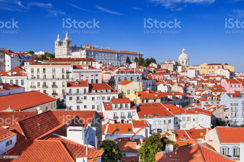 View of Lisbon city, Portugal - fotografia de stock