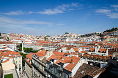View of Lisbon from top of Santa Justa elevator