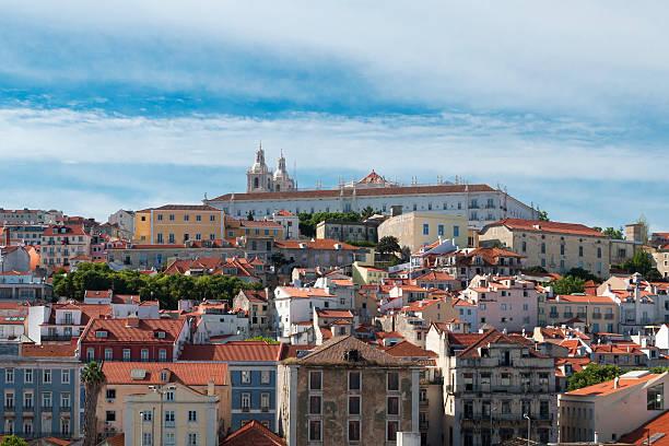 Blick auf Lissabon Altstadt, Alfama-Viertel, in Lissabon, Portugal. – Foto